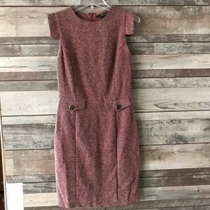 MNG by Mango dress tweed black red sleeveless XS